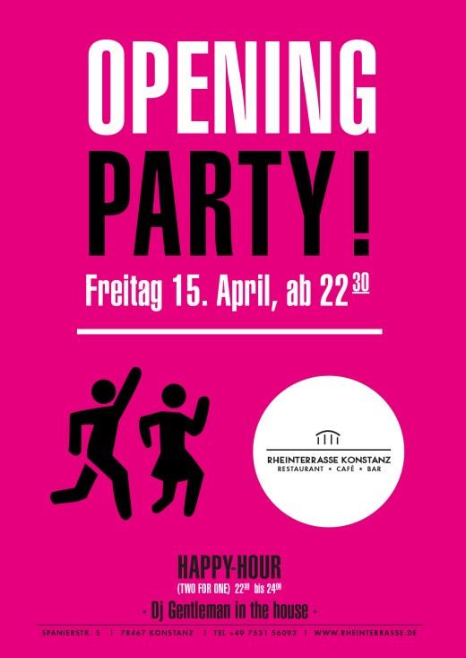 Opening Party – Rheinterrasse – Konstanz
