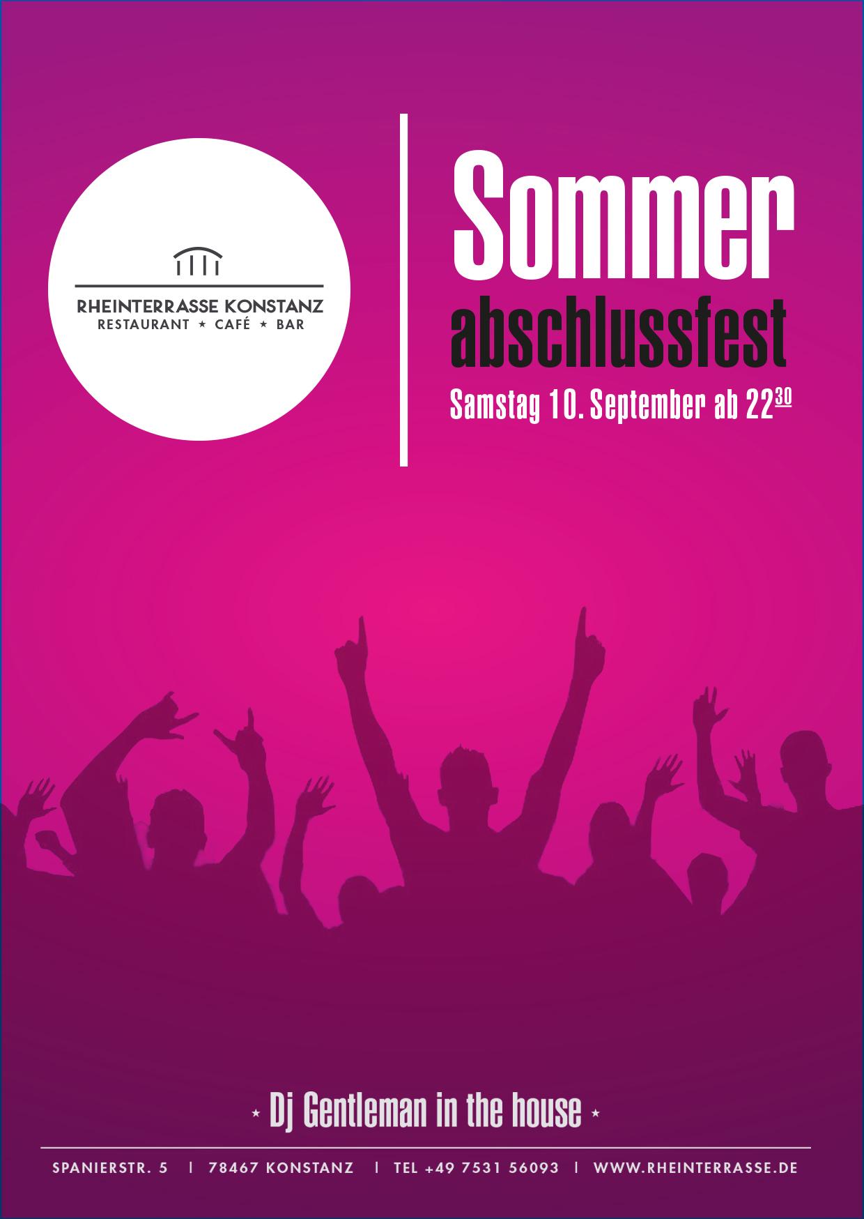 SOMMER ABSCHLUSS FEST auf der Rheinterrasse!!!