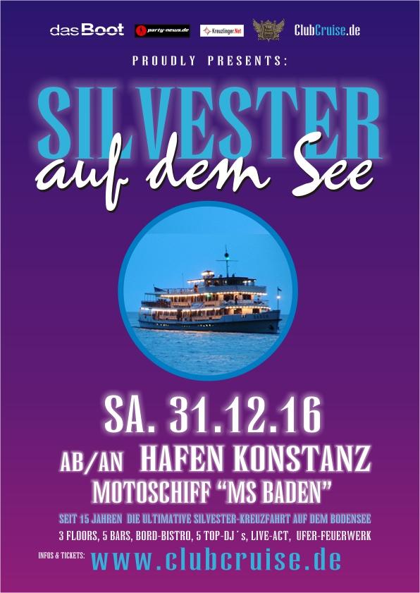 Die ultimative Silvester Party-Kreuzfahrt auf dem Bodensee.