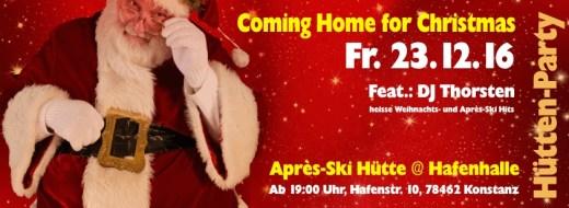 Hütten Party – 23.12.16 – Apres-Ski Hütte @ Hafenhalle