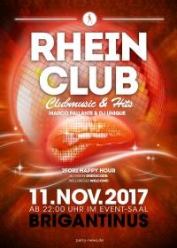 RHEIN CLUB – Sa 11.11.2017 – Brigantinus – Konstanz