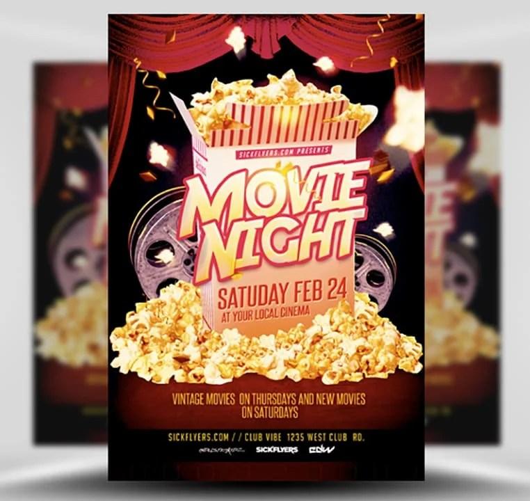 Movie Night Flyer Template Flyerheroes