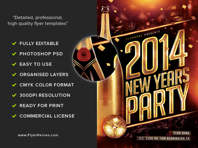 New Years Eve Templates party invitation free party invitations – Free New Years Eve Flyer Template