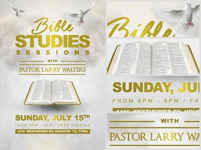 Bible Study Flyer Template 2 FlyerHeroes
