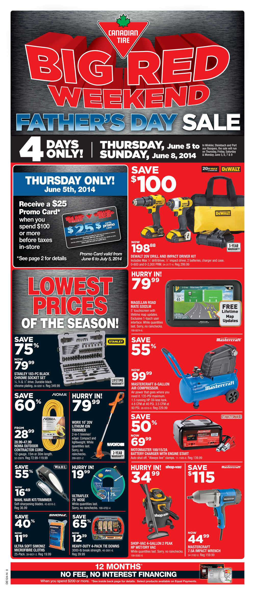 Canadian Tire 3 Day Sale
