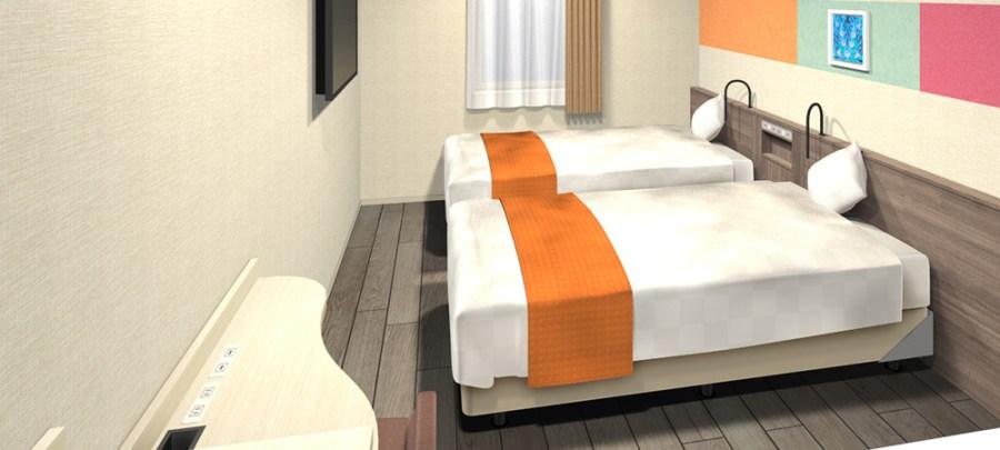 道頓堀SARASA酒店 雙床房