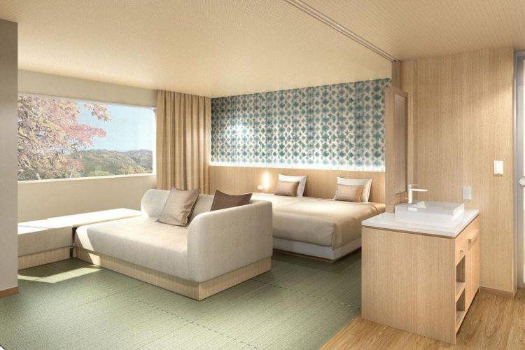 箱根優托瓦酒店 雙床房