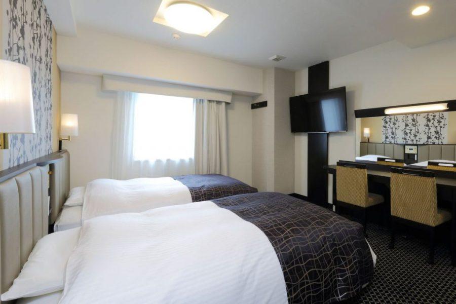 御堂筋本町站塔 APA 酒店及度假村 雙床房