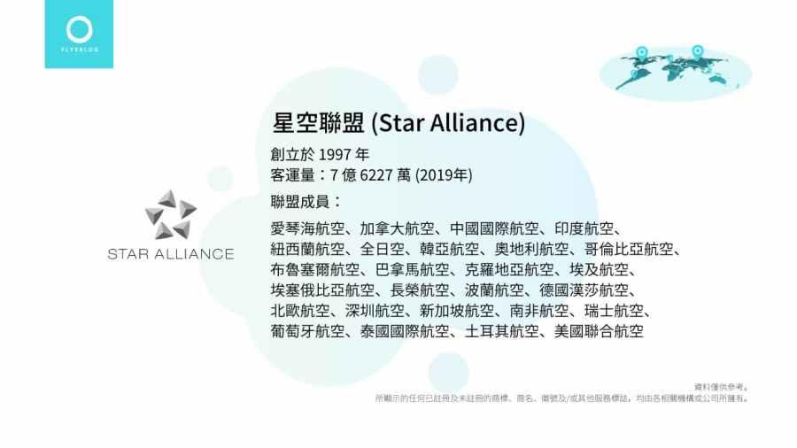 航空聯盟小檔案 - 星空聯盟 (Star Alliance)
