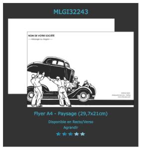 Retrouvez ce modèle de flyer pour garage que vous pouvez personnaliser en ligne.