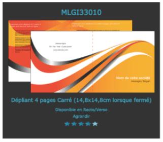 Exemple de flyer 2 volets: à découvrir  et à personnaliser sur notre site d'imprimerie en ligne