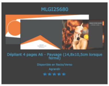 Modèle de flyers mini format  A6 2 volets  à personnaliser en ligne.