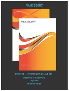 Un des modèles de flyers que vous pouvez sélectionner et personnaliser en ligne.