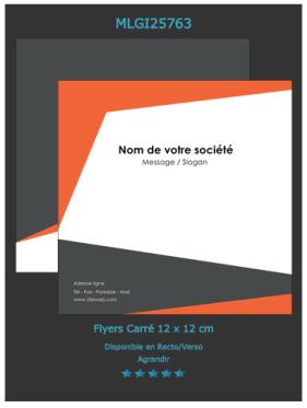 Exemplaire de Flyers petit format:  un modèle à personnaliser en ligne.