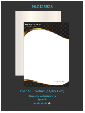 Flyers A5: découvrez les différents modèles personnalisables  sur notre site en ligne.