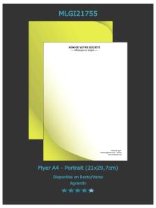 Un exemplaire de flyer personnalisable en toute simplicité sur notre site d'imprimeur en ligne.