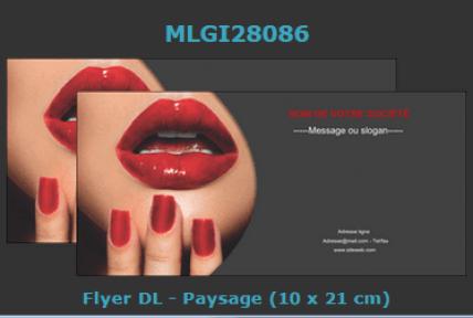 Modèle de flyer 10x21 à choisir et à personnaliser en ligne.
