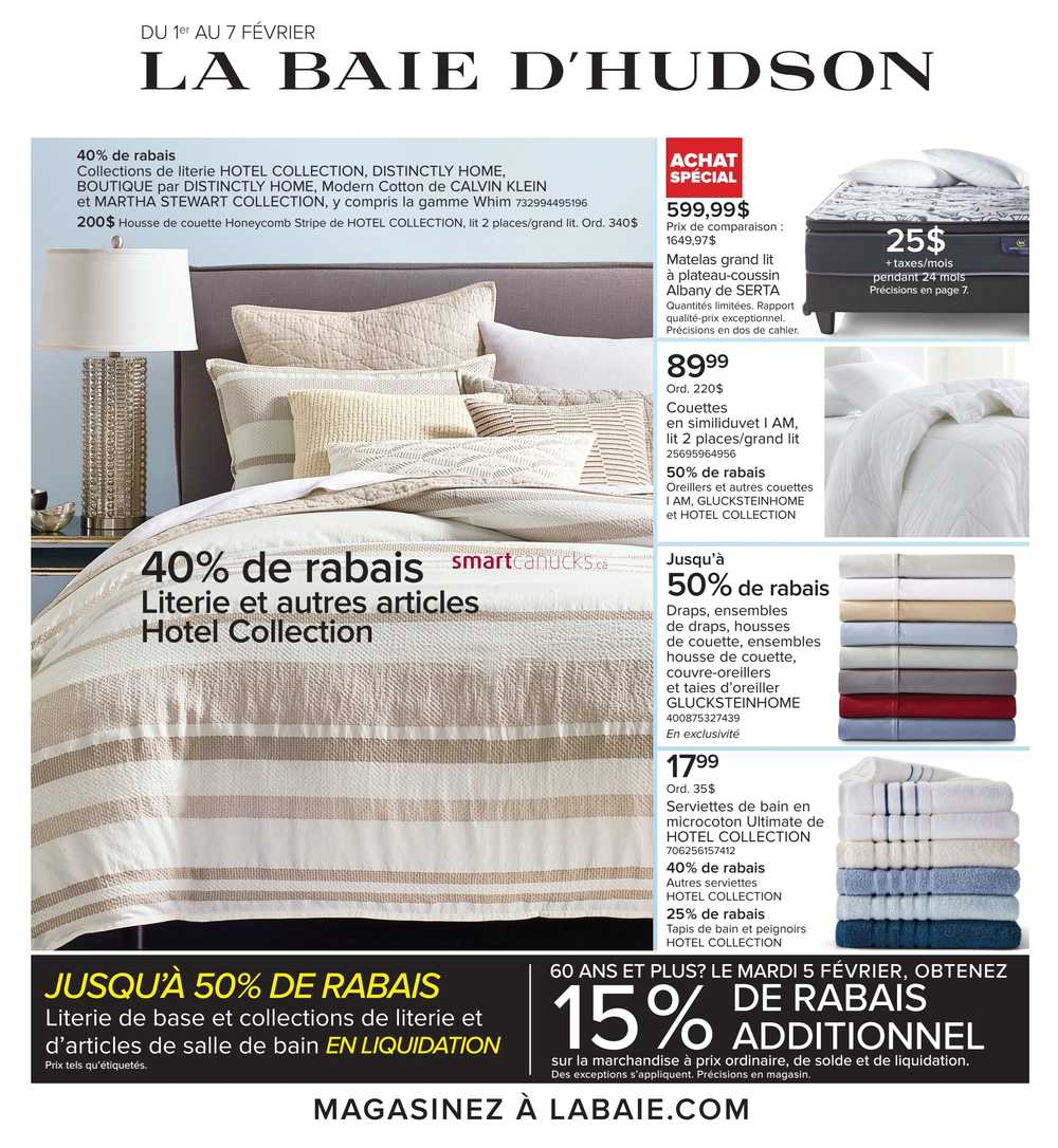 hudson s bay qc flyer february 1 to 7