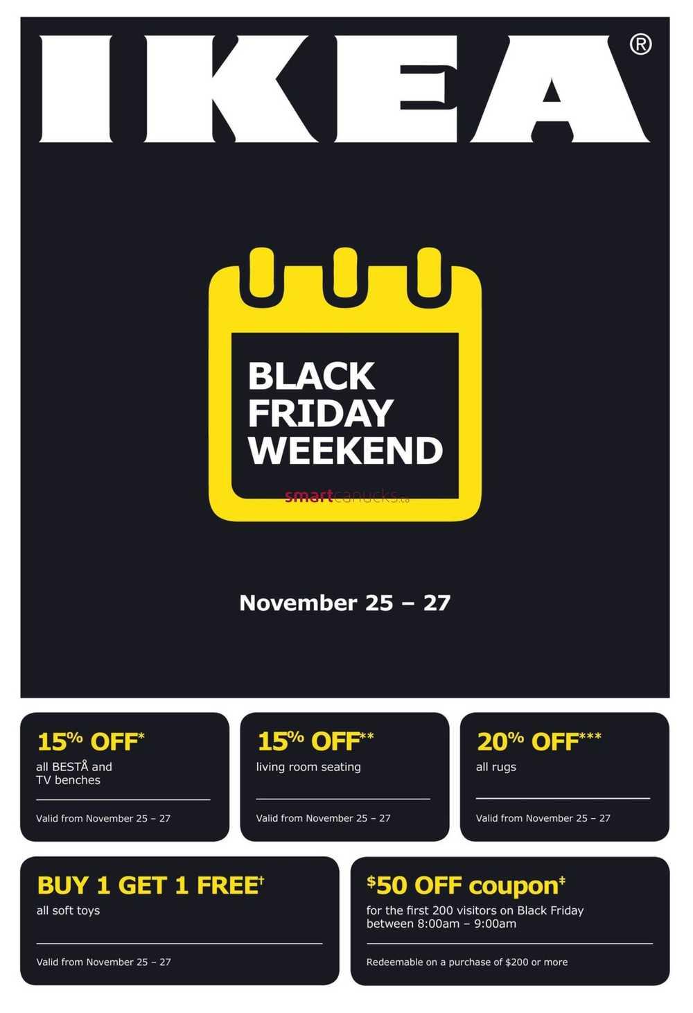 Ikea Black Friday Weekend Flyer November 25 To 27
