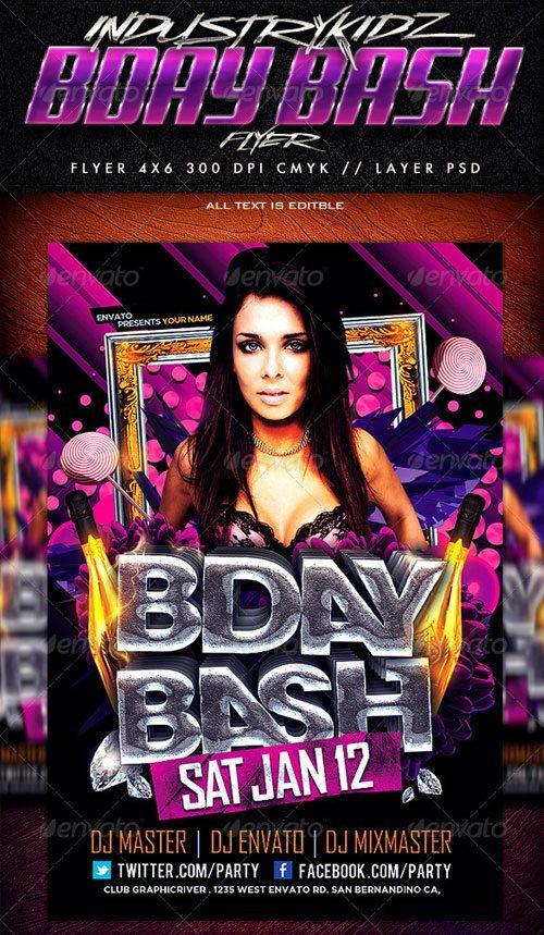 Birthday Flyer Template Free top 10 best anniversary psd flyer – Birthday Flyer Templates Free