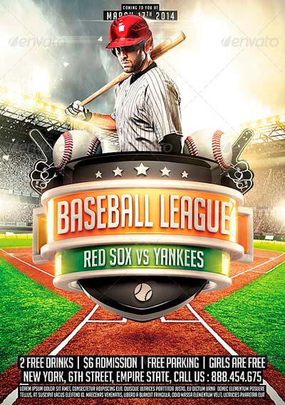 customizable design templates for baseball postermywall best – Sports Flyers Templates