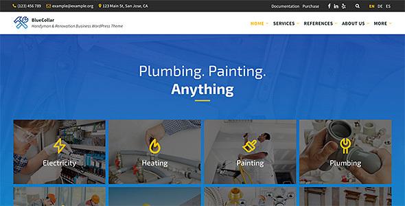 BlueCollar – Handyman & Renovation Industry WordPress Theme – WP Theme Download