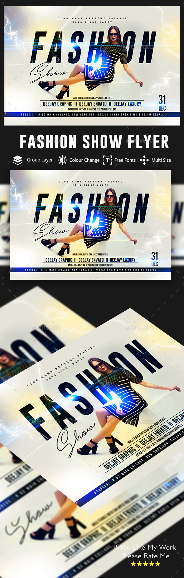 Flyers PSD – Model Flyer – Download