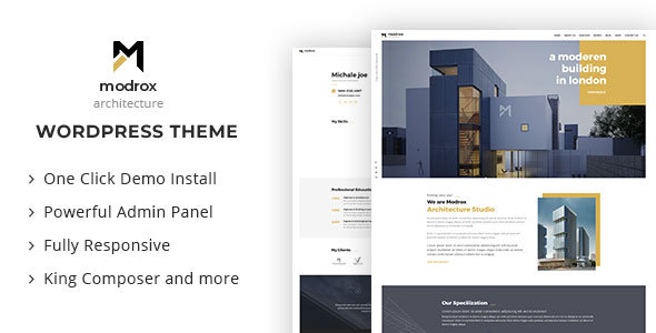 Modrox : Structure And Interior WordPress Theme – WP Theme Download