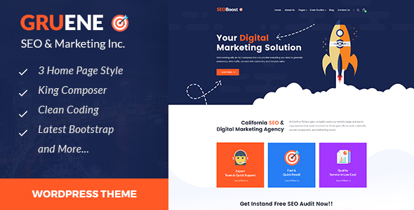 Gruene – Digital Advertising and marketing WordPress Theme – WP Theme Download