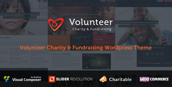 Volunteer – Charity/Fundraising WordPress Theme – WP Theme Download