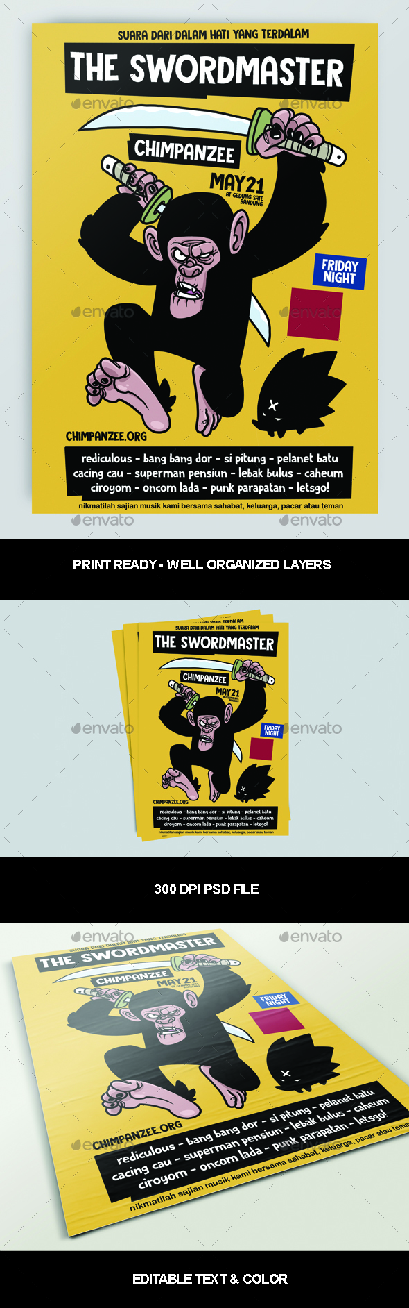 Flyers PSD – The Swordmaster Poster – Download