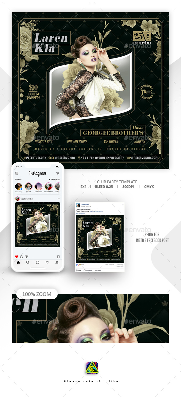 Flyers PSD – Club Celebration Template – Download