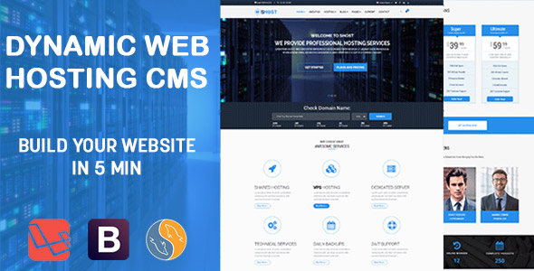 sHOST – Dynamic WebHosting Commerce Template – PHP Script Download