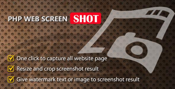 PHP Web Screenshot – PHP Script Download