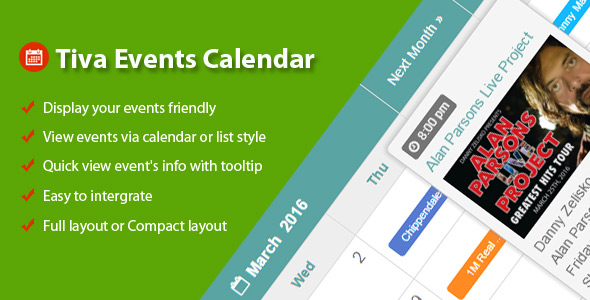 Tiva Occasions Calendar For PHP – PHP Script Download