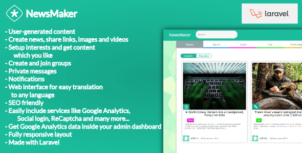 NewsMaker – CMS and Social Community – PHP Script Download