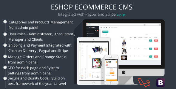 ESHOP Ecommerce CMS – PHP Script Download