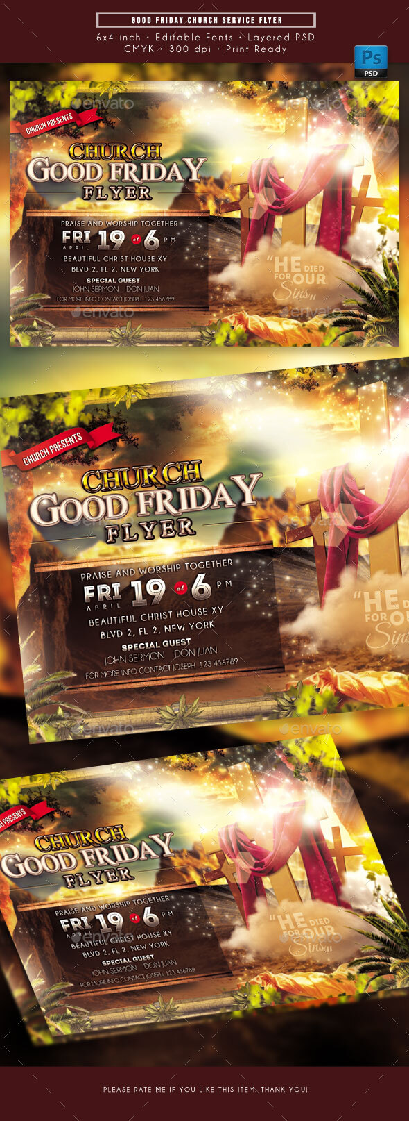 Flyers PSD – Lawful Friday Church Provider Flyer – Download