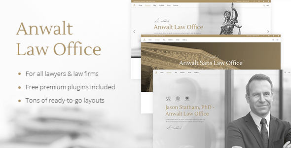 Anwalt – Law Agency and Attorney Theme – WP Theme Download
