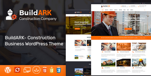 BuildARK- Building Trade WordPress Theme – WP Theme Download