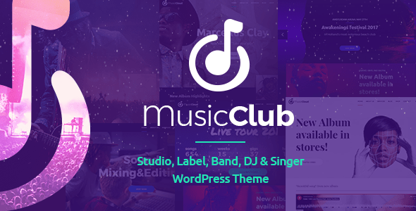 Music Membership – Band & DJ – WP Theme Download