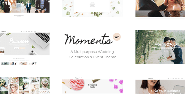 Moments – Wedding & Occasion Theme – WP Theme Download