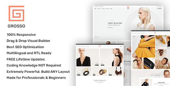 Grosso – As a lot as the moment WooCommerce theme for the Vogue Exchange – WP Theme Download