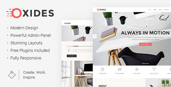 Oxides – Artistic Studio Theme for Companies and Entrepreneurs – WP Theme Download