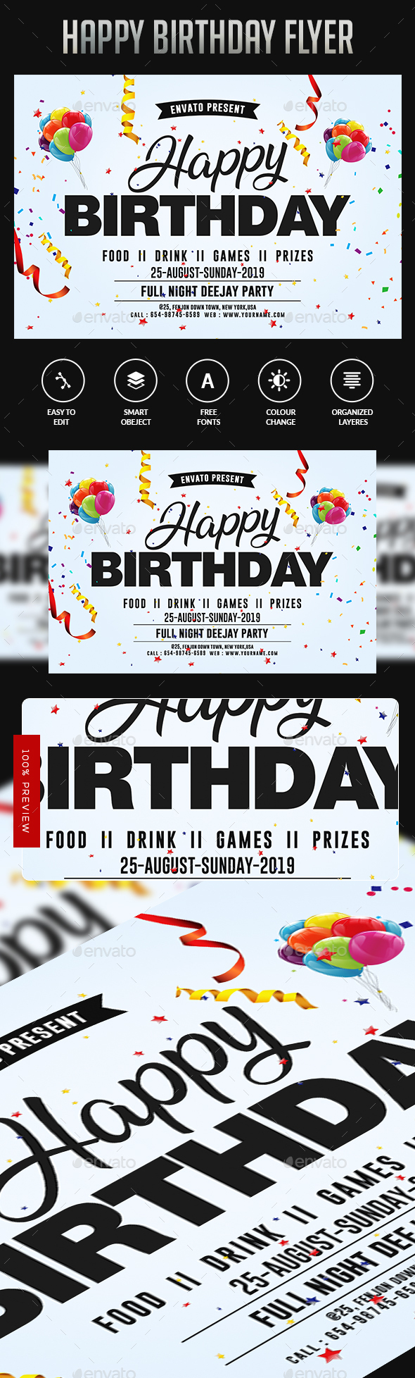 Flyers PSD – Birthday Flyer – Download