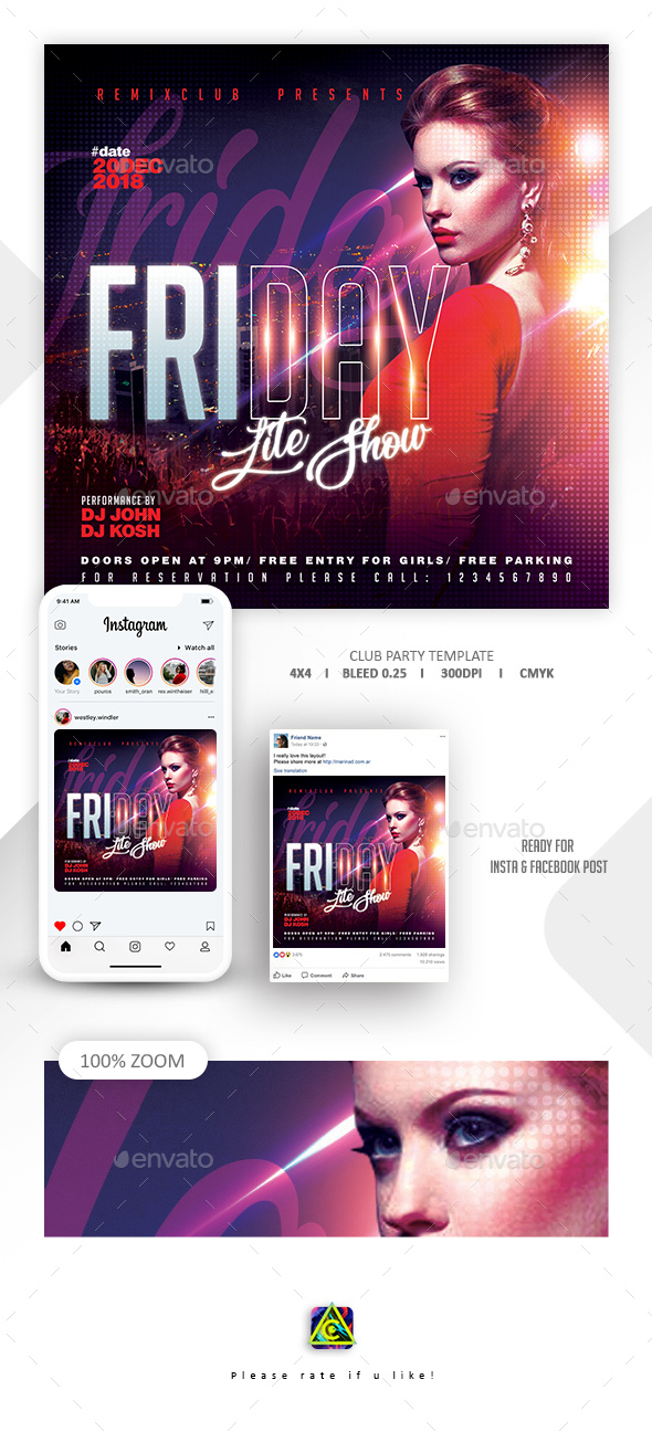 Flyers PSD – Ladies Evening Flyer Template – Download