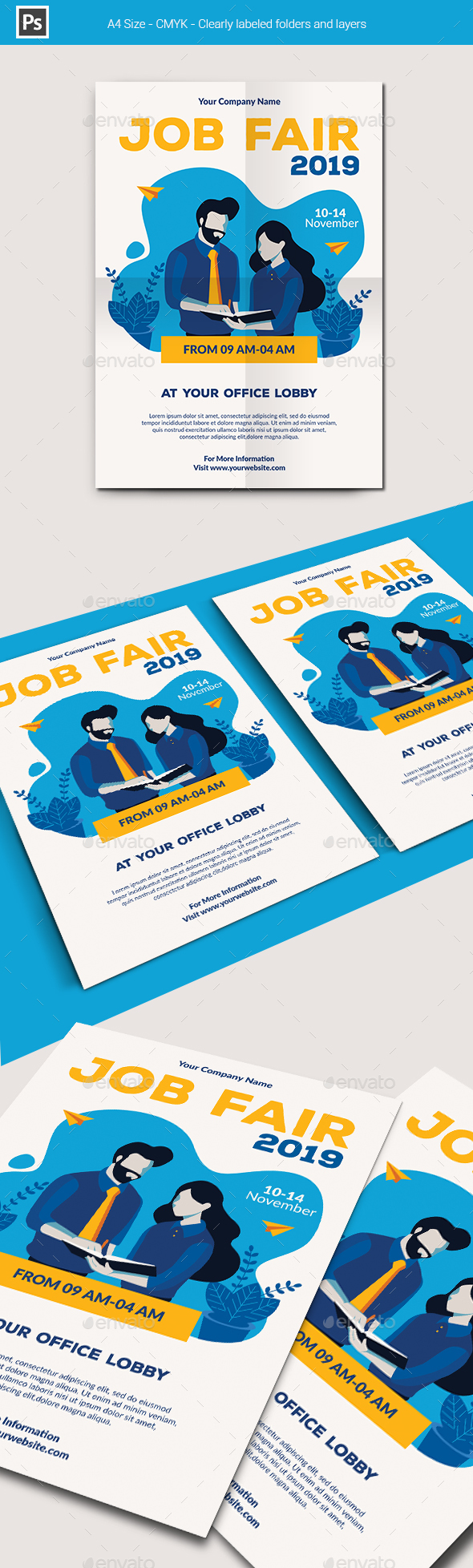 Flyers PSD – Job Dazzling Flyer Template – Download