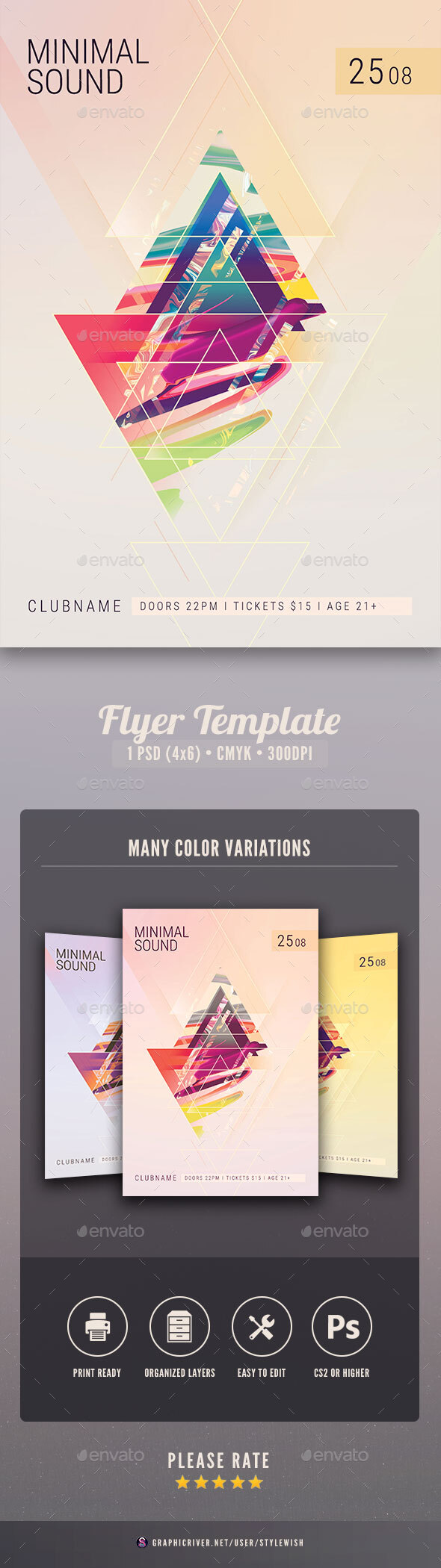 Flyers PSD – Minimal Sound Flyer – Download