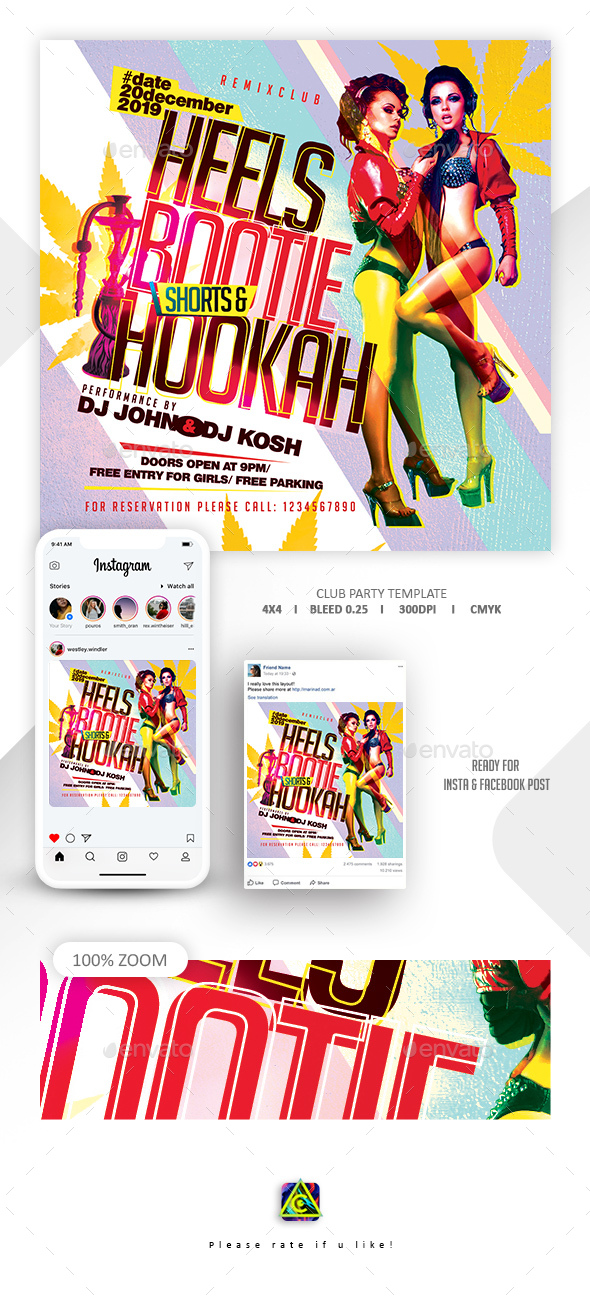 Flyers PSD – Club Rep together Flyer – Download