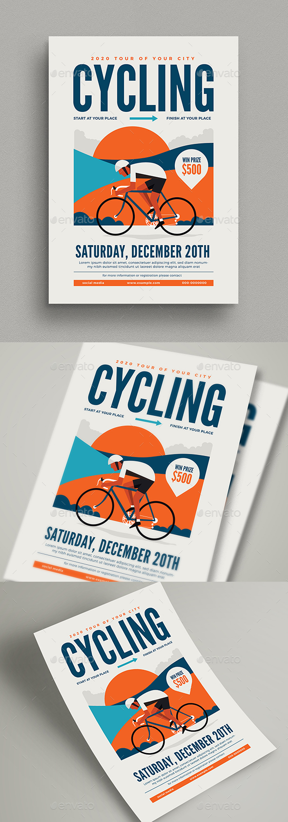 Flyers PSD – Cycling Event Flyer – Download